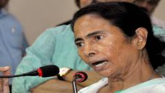 West Bengal Chief Minister Mamata Banerjee addressing a press conference at Nabanna (State Secretariat) in Kolkata on Wednesday. PTI Photo