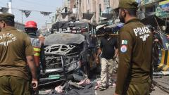 Five killed in blast outside shrine in Pak