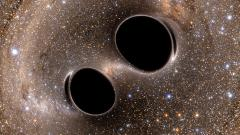 A merger of unequal mass black holes seen