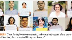 Chain fasting in the city completes 111 days
