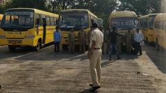 First Action Against School bus by RTO in this Year