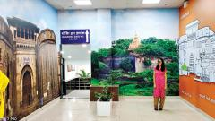 Now, take a photo at airport's selfie point