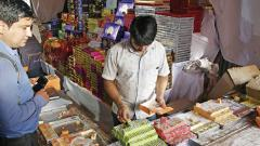Sale of Diwali sweets hit by rains