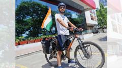 Student cycles across the country to spread water conservation message