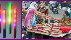 Wooden and LED dandiya sticks in demand this Navratri festival in city