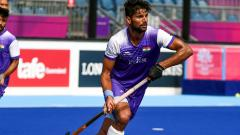 Rupinder Pal Singh in action against Canada during practice match