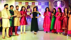 Aditi Govitrikar at the launch of the festival collection at Westend Mall, Aundh