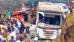 Private bus collides with Shivshahi