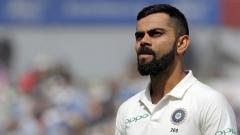 India's captain Virat Kohli reacts on the field after the game ends on the fourth day of the first Test cricket match between England and India at Edgbaston in Birmingham, central England on August 4, 2018. Adrian Dennis/AFP