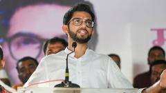 Yuva Sena chief Aditya Thackeray addresses in support of BJP-Shiv Sena candidate Nirmala Gavit from Trimbakeshwar-Igatpuri constituency ahead of Maharashtra Assembly polls, in Nashik district, Thursday, Oct. 10, 2019.