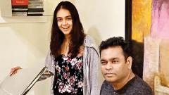 Kaveri Kapur records a song for a Swedish label SNAFU with her music mentor AR Rahman