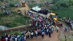 29 killed, 18 injured as bus veers off Yamuna Expressway and plunges into drain