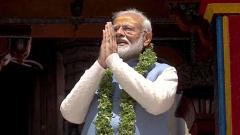 On polling day, Modi prays at Badrinath, Kedarnath