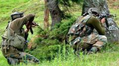A gunfight between terrorists and security forces is on at Awantipora in Jammu and Kashmir's Pulwama district on Sunday