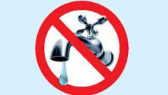 City water supply will be cut twice a month