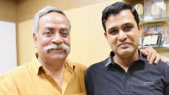 Piyush Pandey (L) with Prasad Namjoshi, who translated his bestseller Pandeymonium – Piyush Pandey on Advertising, into Marathi, titled Pandeypuran – Jahirat Aani Me. The book was released on Thursday.
