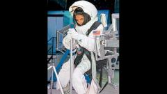 Ishani Rede of MIT Polytechnic College gets astronaut training at the US Space and Rocket Centre in Huntsville, Alabama