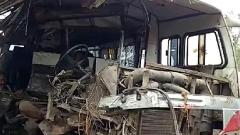3 Killed, 21 injured as bus collided with a stationary truck in Madhya Pradesh