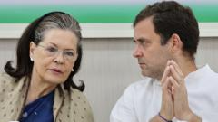 Sonia, Rahul recuse themselves from CWC meet