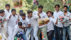 Youth Cong activists hold protest against M J Akbar, demand his resignation