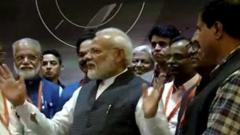 """""""No need to get dejected"""", PM tells ISRO scientists"""