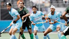 Match in progress between India and Pakistan in Breda on Saturday