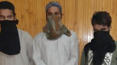 Four aides of terrorists arrested: J&K