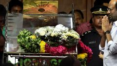 Actor Rajnikanth and his family pay their last respects to DMK chief M Karunanidhi at Rajaji Hall, in Chennai on Wednesday, Aug. 08, 2018. R Senthil Kumar/PTI