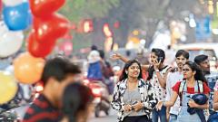 Puneites welcome New Year with friends, family