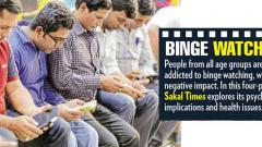 Adolescents prone to binge watching