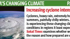 'Cyclones with greater intensity hit Indian subcontinent'