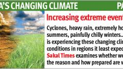 'Extreme climatic events alarming, result of global warming'