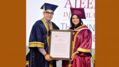 Leaders conferred D Litt by Ajeenkya DY Patil University