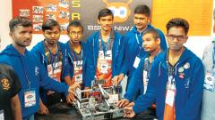 Visually-impaired team's robot steals the show at FCT