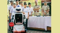 India's 1st road safety robot launched