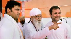 Congress President Rahul Gandhi campaigns for party's candidate from Sirsa constituency Ashok Tanwar during an election rally, ahead of the Lok Sabha seats in Sirsa, on Thursday, May 09, 2019. PTI Photo