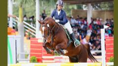Tiyasha finishes on top in Junior Show Jumping