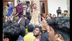 Students evicted by police officials for protesting outside VC office