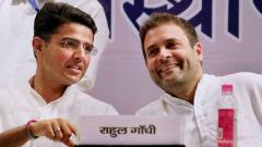 Amid reconciliation talks, Congress leaders hint at Rahul Gandhi-Sachin Pilot meet