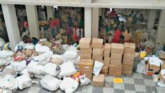 Villagers manage to keep politics away in relief material distribution