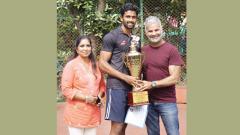 Double crown for Aher at Hotel Ravine All India Ranking Tennis