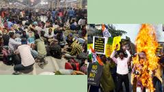 Violent protests continue in Bengal, several buses, rly cancelled