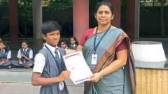 VPNEMS student bags 2nd position in wrestling