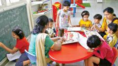 Great initiative: The day care centre opened for the children of policewomen in Shivajinagar. Vaibhav Thombare