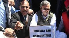 MHA defends highway ban; protests continue in Kashmir