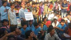 Deaf youth protesting in Pune allege police baton-charge