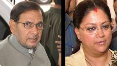 Raje slams Sharad Yadav for body shaming her, says she is insulted