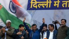 Arvind Kejriwal-led AAP heads for stupendous victory in Delhi polls
