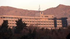 This general view shows the Intercontinental Hotel following an attack in Kabul on January 21, 2018. Pic - AFP