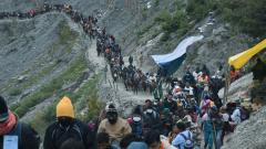 Amarnath yatra begins amid tight security, Guv Malik participates in 'Pratham Pooja'